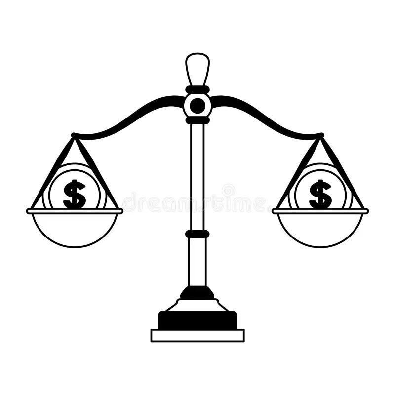 Money or justice stock illustration. Illustration of