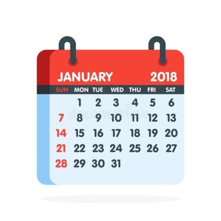 Afbeeldingsresultaat voor jaarkalender 2018 picto