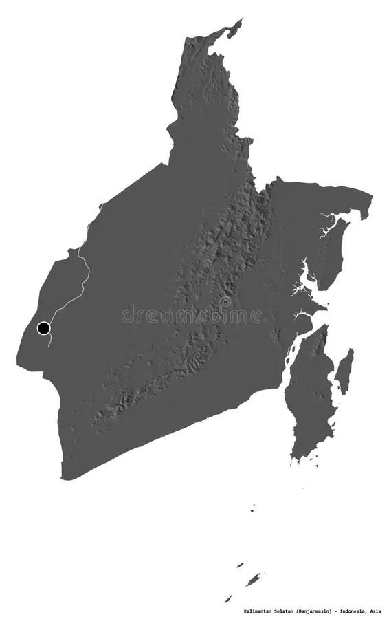 Peta Kalimantan Hitam Putih : kalimantan, hitam, putih, Kalimantan, Selatan, Indonesia., Bounding, Pattern, Stock, Illustration, Ocean,, Province:, 193801137