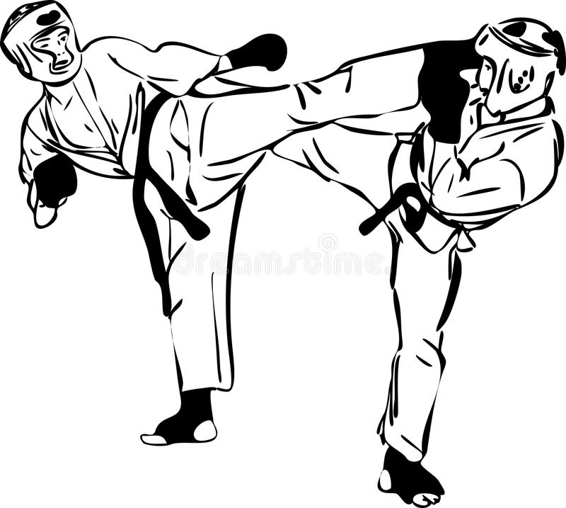 Martial Arts Print Stock Vector Image Of Vector