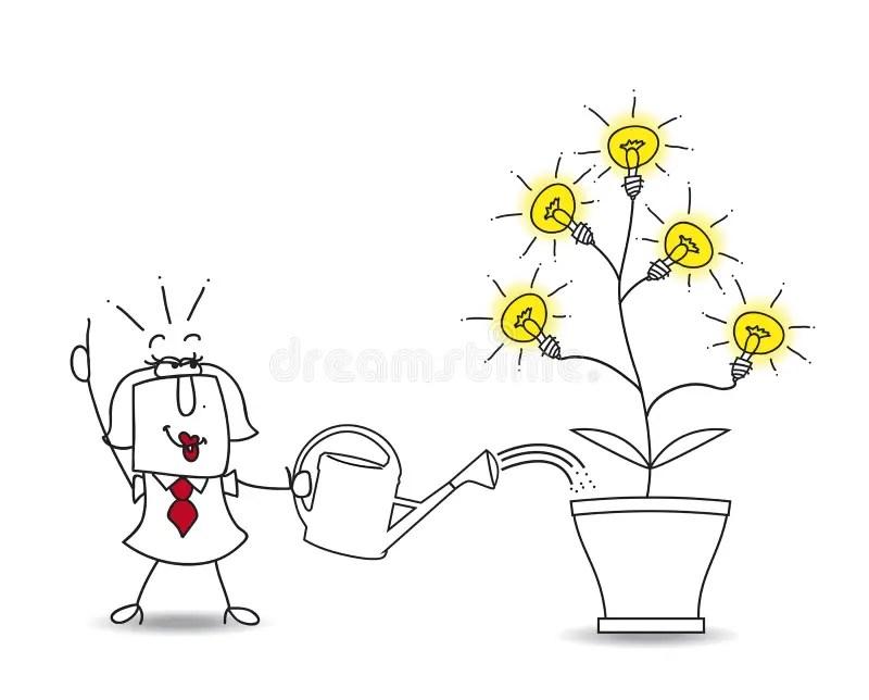 I have brilliant ideas! stock illustration. Illustration
