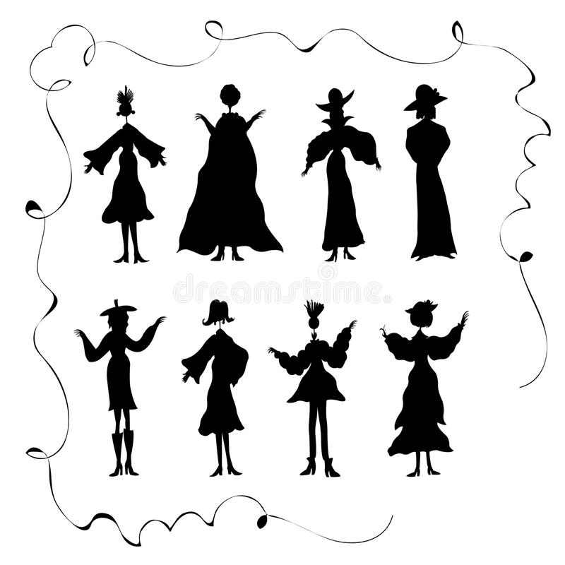 Kids Dancing Silhouettes stock vector. Illustration of