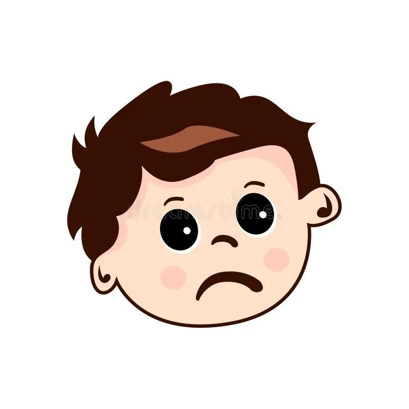 Kids Face Cute Sad Stock Vector Illustration Of Face 145025722