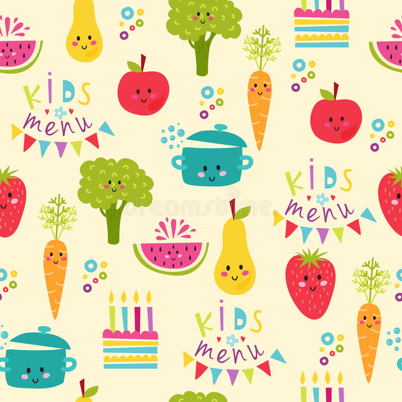 Kids Food Menu Background Vector Illustration Stock Vector - Illustration of dinner. fresh: 83915750