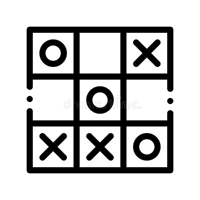 Noughts and crosses stock illustration. Illustration of