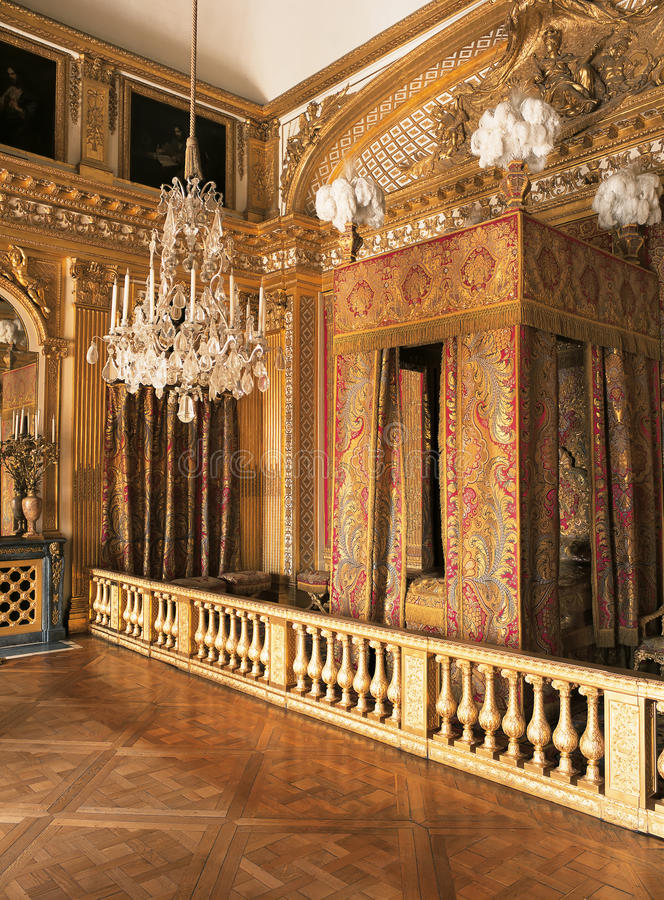 King Louis XIV Bedroom At Versailles Palace France