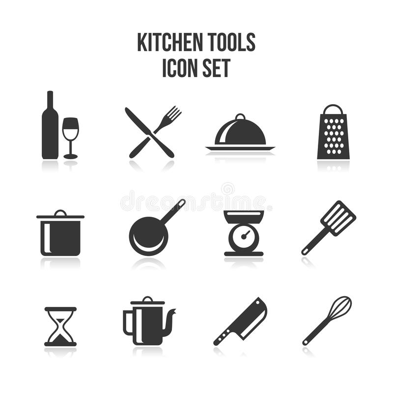 Kitchen and cooking icons stock vector. Illustration of