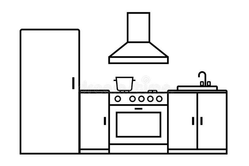 Cookhouse stock illustration. Illustration of meal, cook