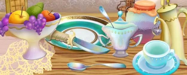 illustration kitchen cartoon background fairy tale still colorful children vase painting mother