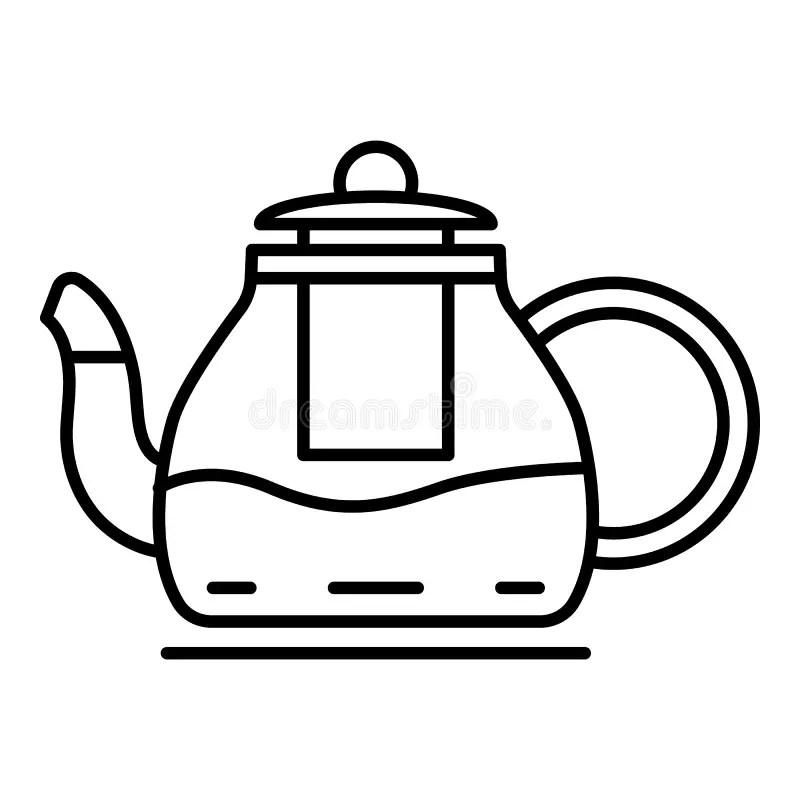 Black And White Striped Teapot Stock Illustration