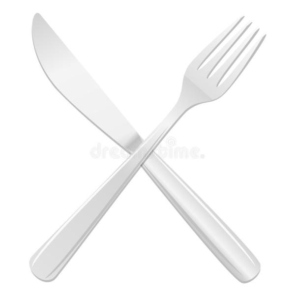 Knife And Fork Crossed Royalty Free Stock Images Image