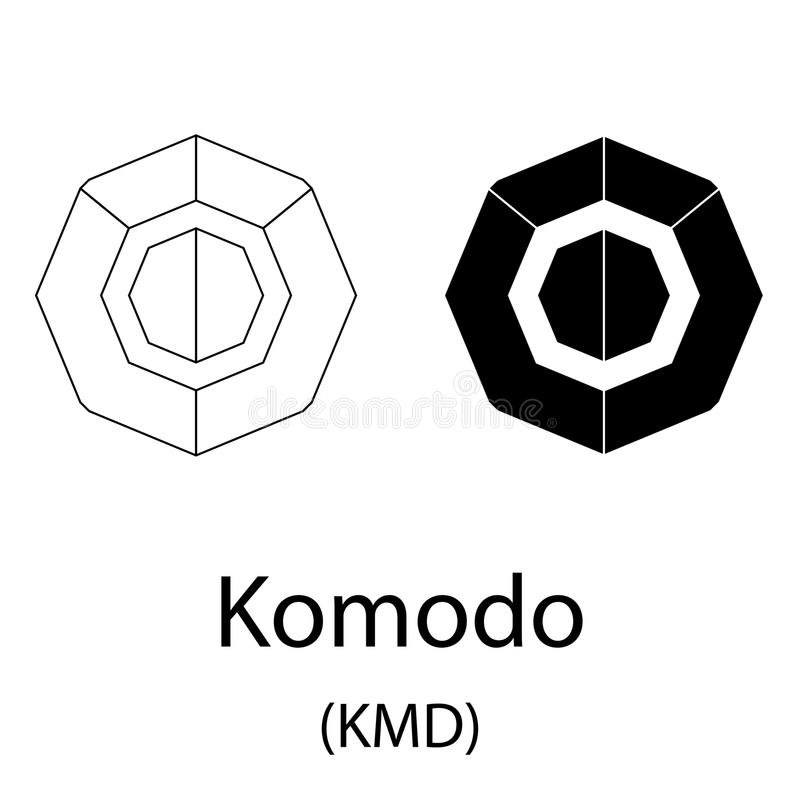 Blockchain Komodo Symbol Network Concept Finance