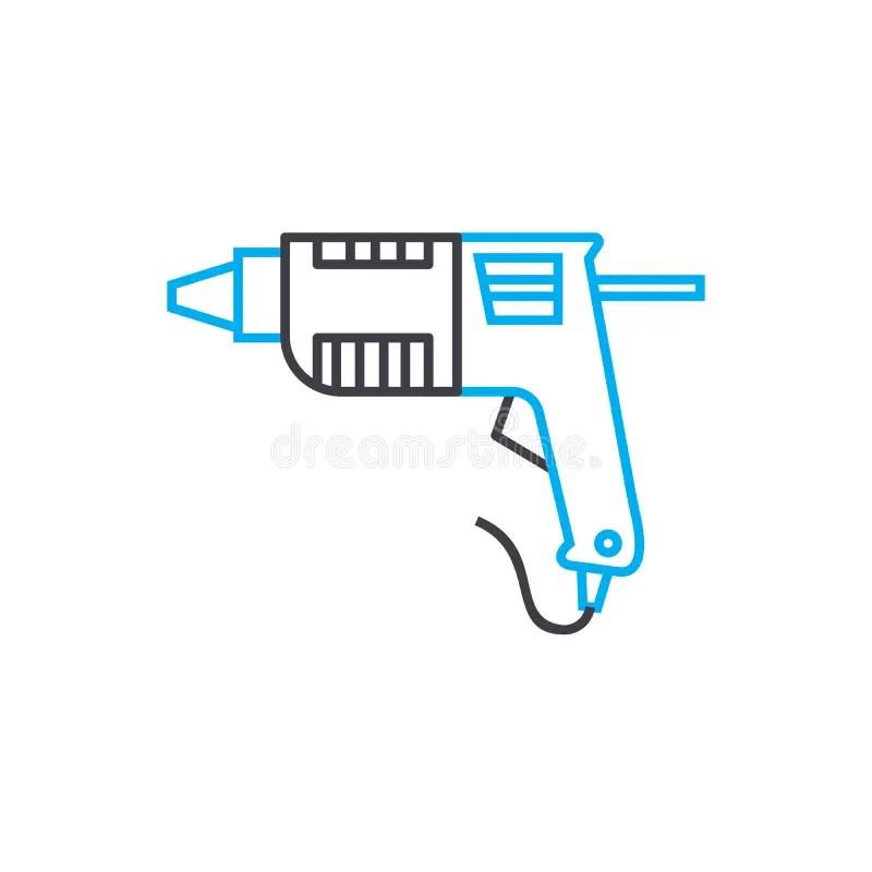 Taladro manual ilustración del vector. Ilustración de