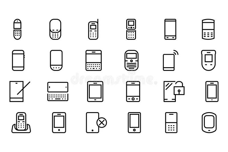 Teléfono Celular Del Vector/PDA/zarzamora Ilustración del