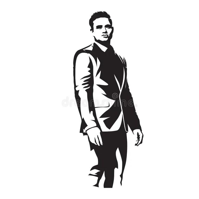 Illustrazione Diritta Dell'uomo Dell'icona Di Contorno
