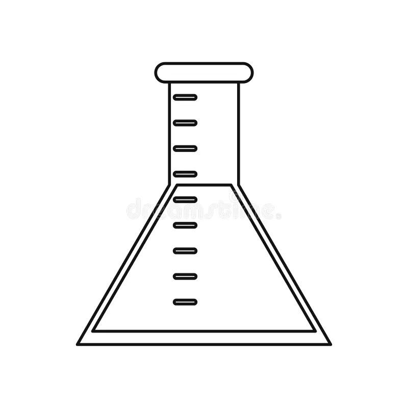 Laboratory Test Tube Chemistry Thin Line Stock Vector