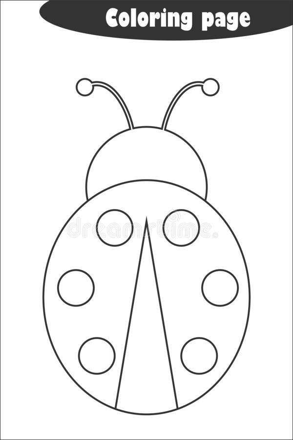 Ladybug. Coloring Page, Game For Kids. Vector Illustration