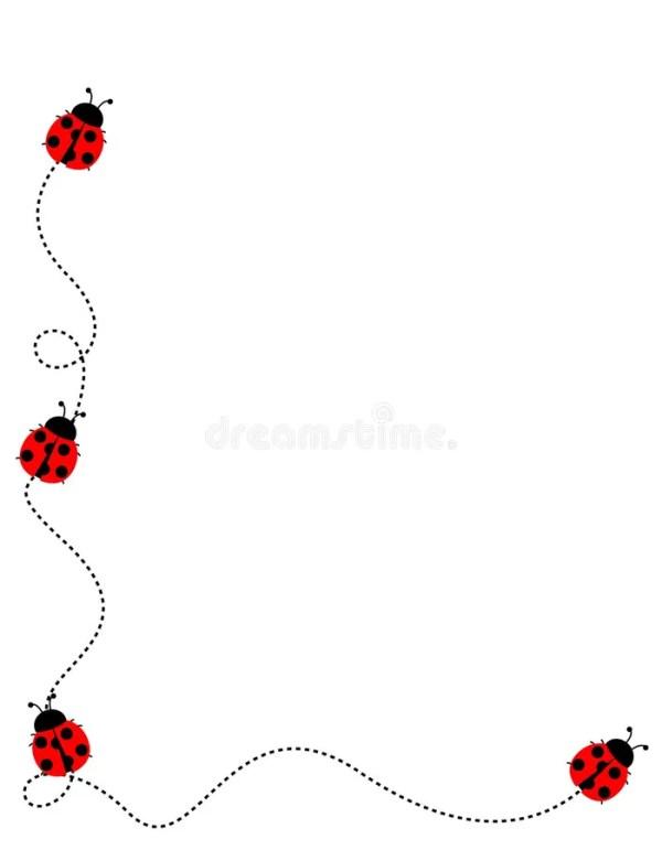 ladybug frame border stock vector
