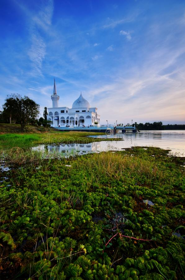 landscape of mosque stock