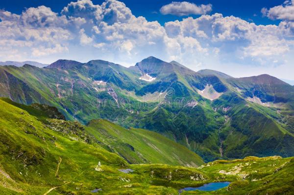 landscape with fagaras mountains