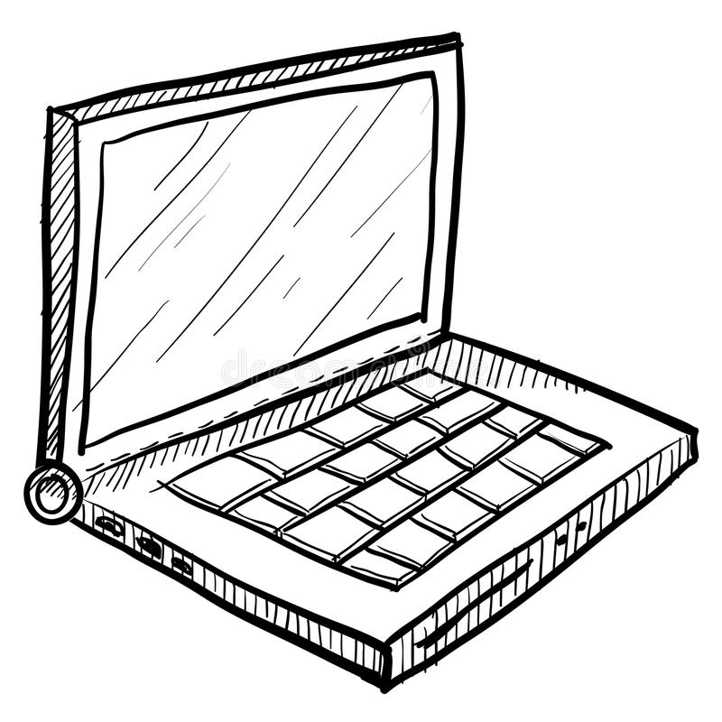 Computer Doodle Drawing Stock Illustration Illustration