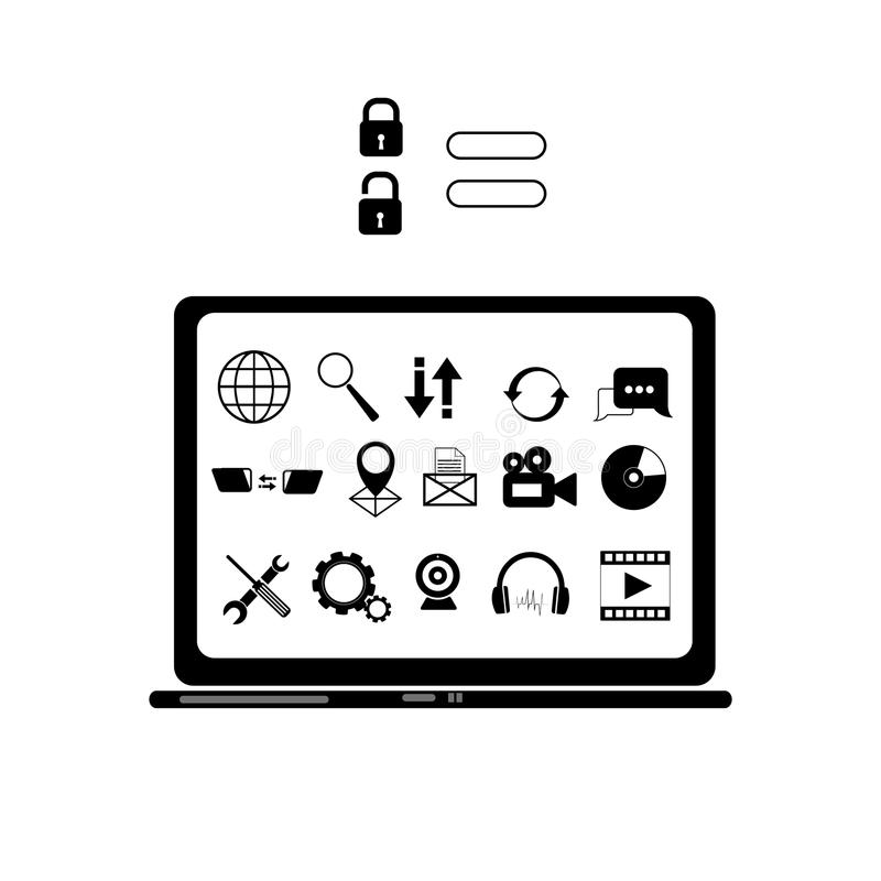 Icon Set,computer Icon,database Icon,networking Icon,big