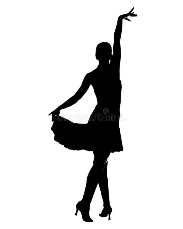 Latin dancer silhouette stock illustration Illustration