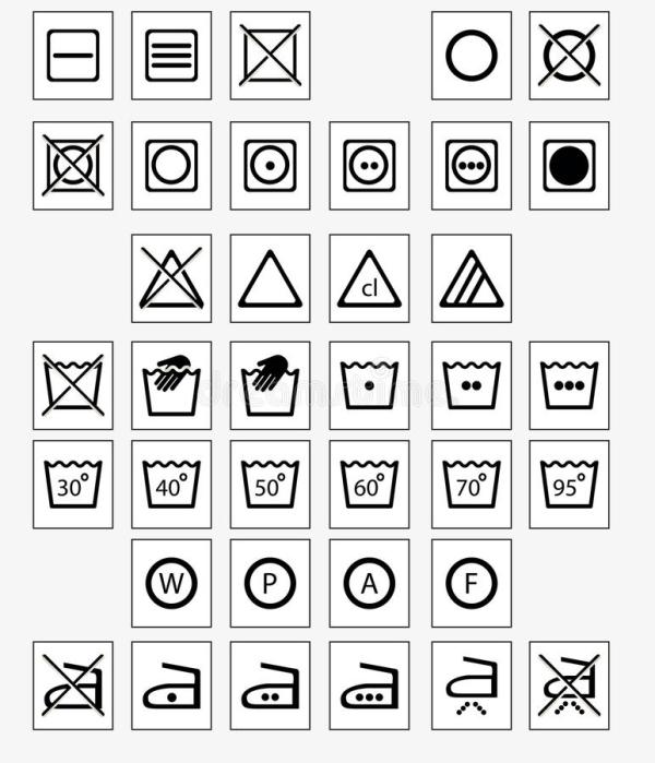 Laundry symbols stock vector Illustration of machine