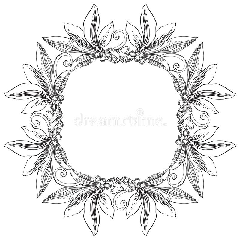 Certificate frame stock vector. Illustration of design