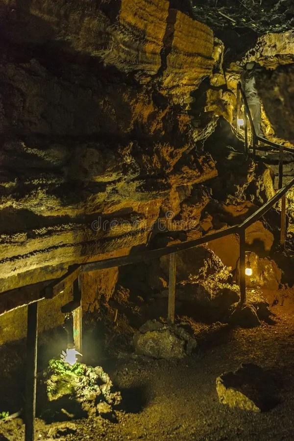 Lava Tunnel. Galapagos. Ecuador Stock Photo - Image of tunnel. landscape: 97548568