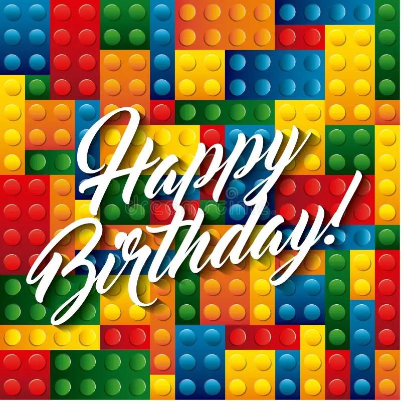 lego pieces icon happy birthday design