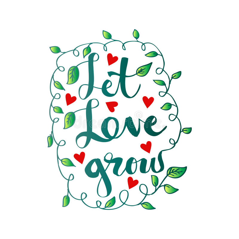 Download Let love grow. stock vector. Illustration of isolated ...