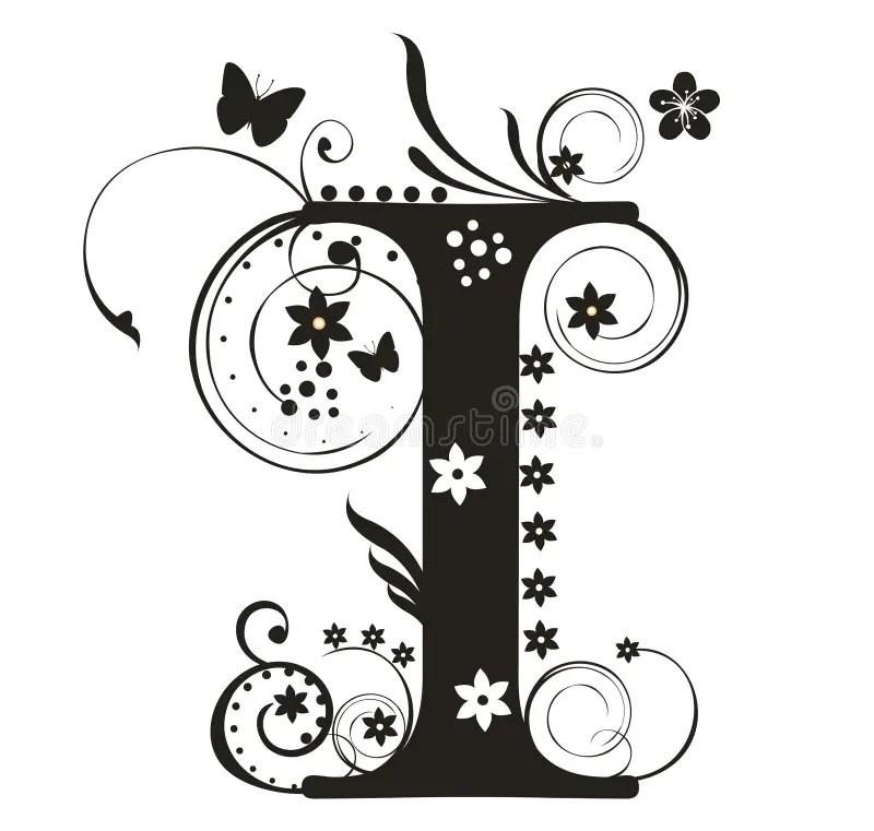 Letter I stock vector. Illustration of character