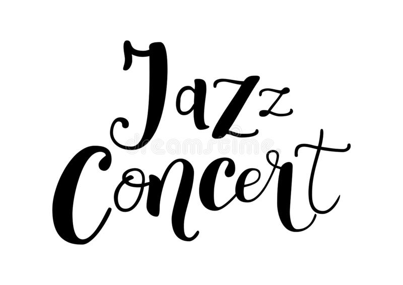 Lettering Of Jazz In Orange Gradient With Outline And