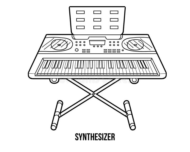 Libro De Colorear: Instrumentos Musicales (sintetizador