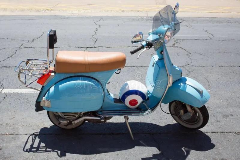 light blue moped helmet