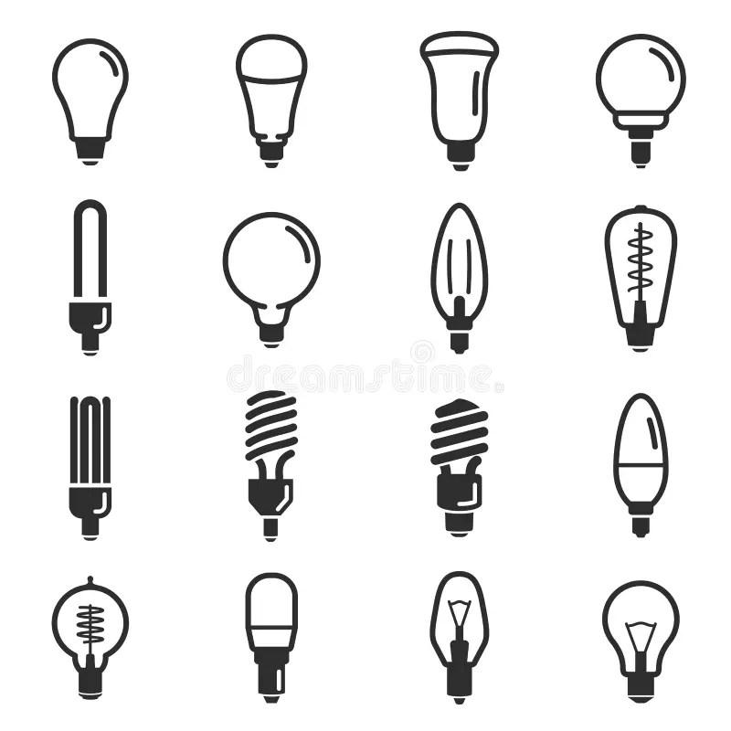 LED light bulb icon stock vector. Illustration of idea
