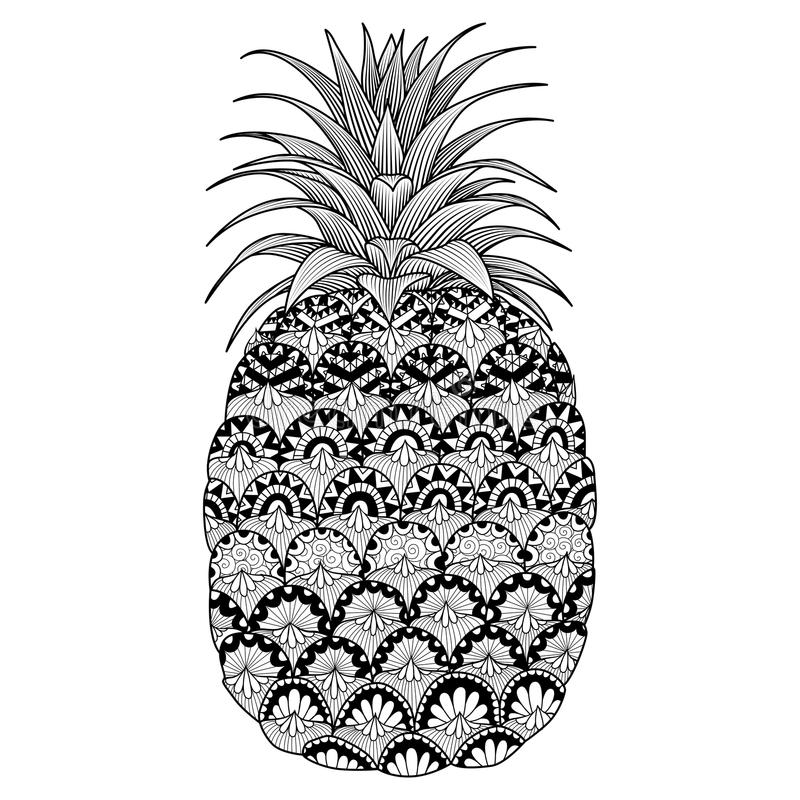 Be A Pineapple Quote Wallpaper Line Art Design Of Pineapple For Coloring Book For Adult