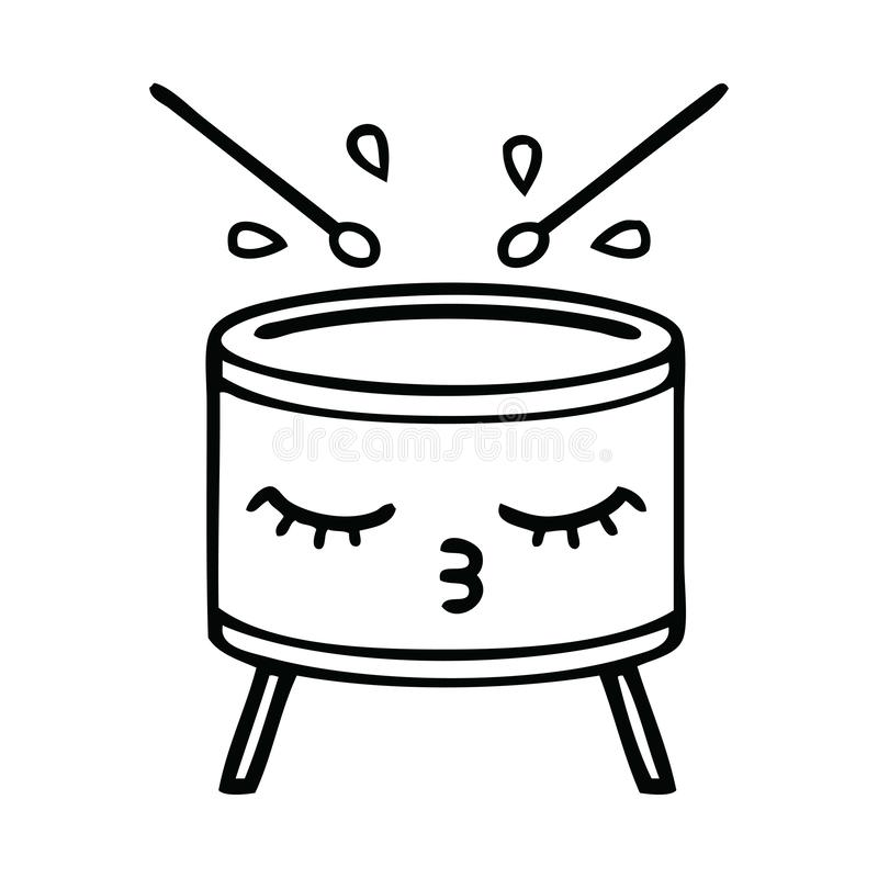 Cartoon Drum Stock Illustrations