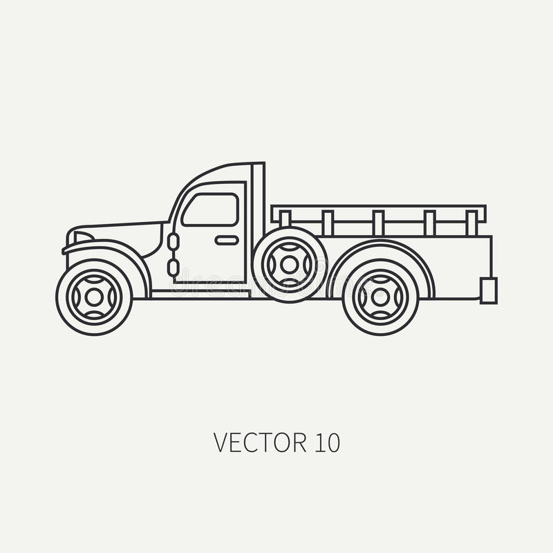 Line Flat Plain Vector Icon Service Staff Open Body Army