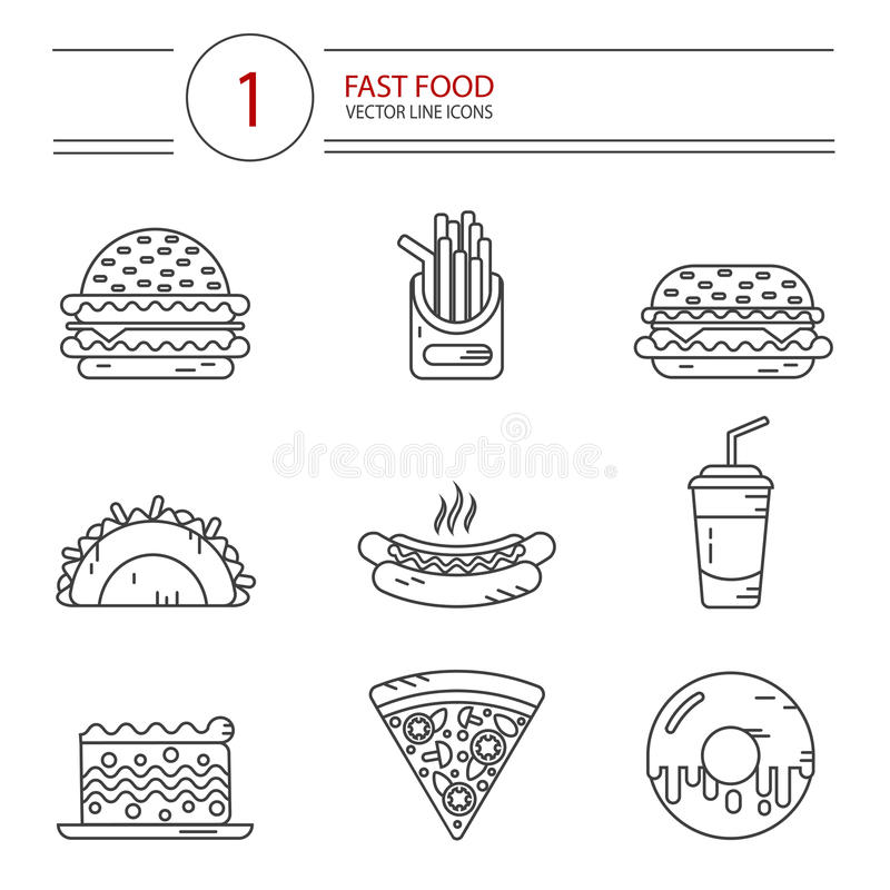 Donut Icon Or Logo In Modern Line Style. Stock Vector
