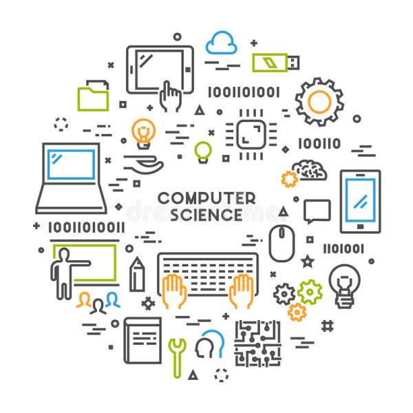 Line Web Concept Computer Science Stock Illustration