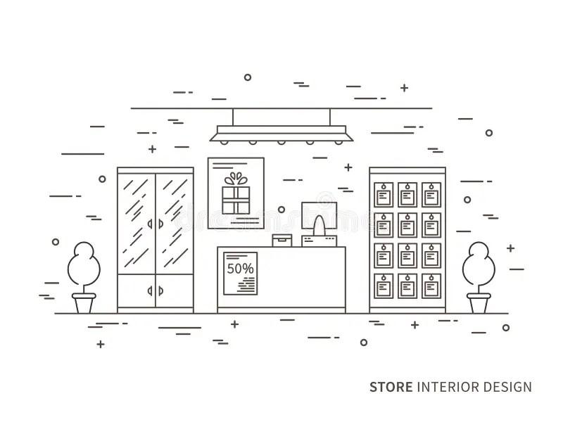 Flat Design Showcase Restaurant Shop Facade Icon Store