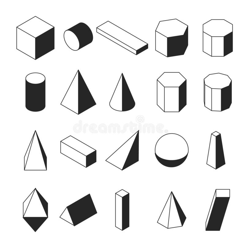 Set Of Math Icons. Linear Style. Knowledge Of Math And