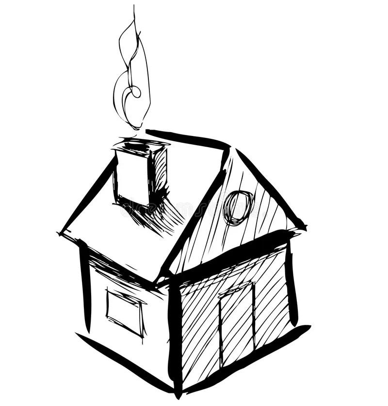 Little cartoon house stock vector Illustration of