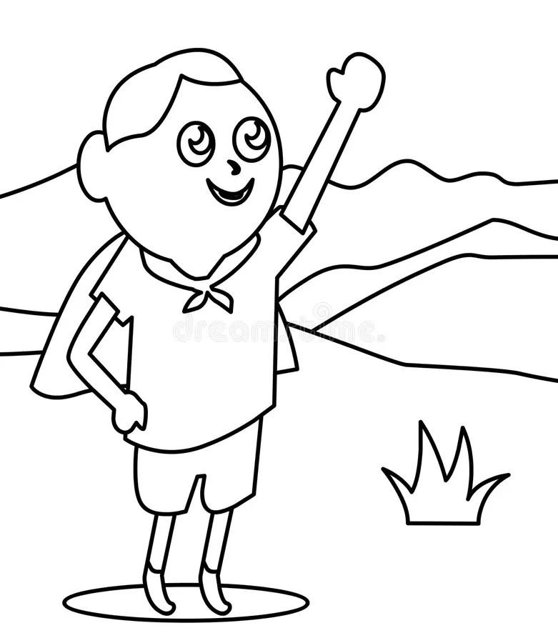 Superhero Cape Coloring Page Sketch Coloring Page