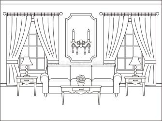 Interior Design Bedroom Coloring Pages