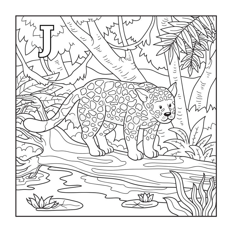 Livro Para Colorir (jaguar), Ilustração (letra J