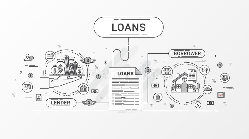 Loan Infographics. Loan Agreement Between The Lender And