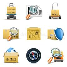 Logistic And Distribution Icons Bella Series Stock